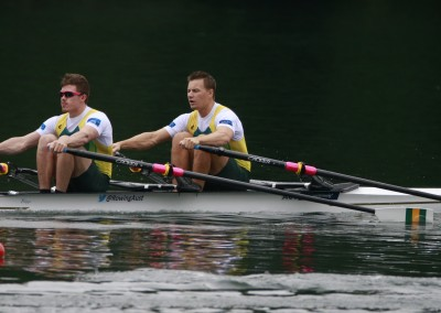 Belonogoff and McRae 2 - Heats - Copyright Rowing Australia