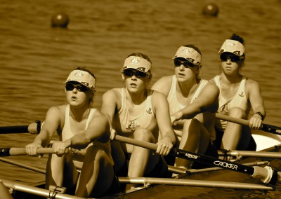 The Junior Women's Four in action