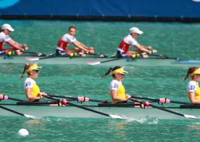 The Lightweight Women's Quadruple Scull in the A-Final
