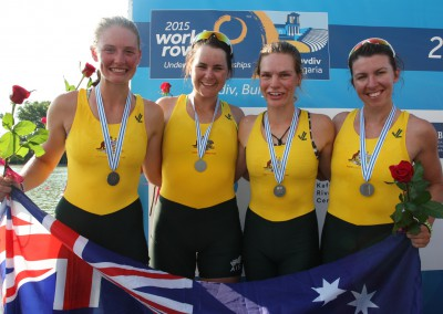The Women's Quadruple Scull claimed silver