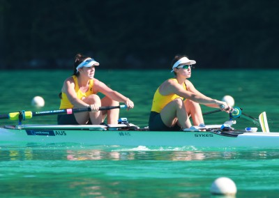 Molly Goodman and Gen Horton in the Women's Pair on Day 1