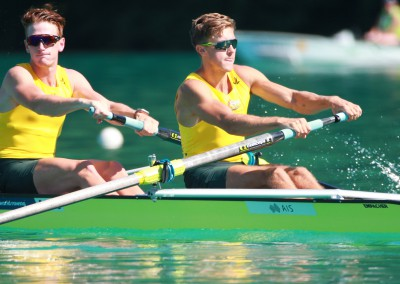 The Men's Pair of Nick Wheatley and Jack Hargreaves on Day 1