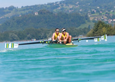 The Men's Four in action on Day 1